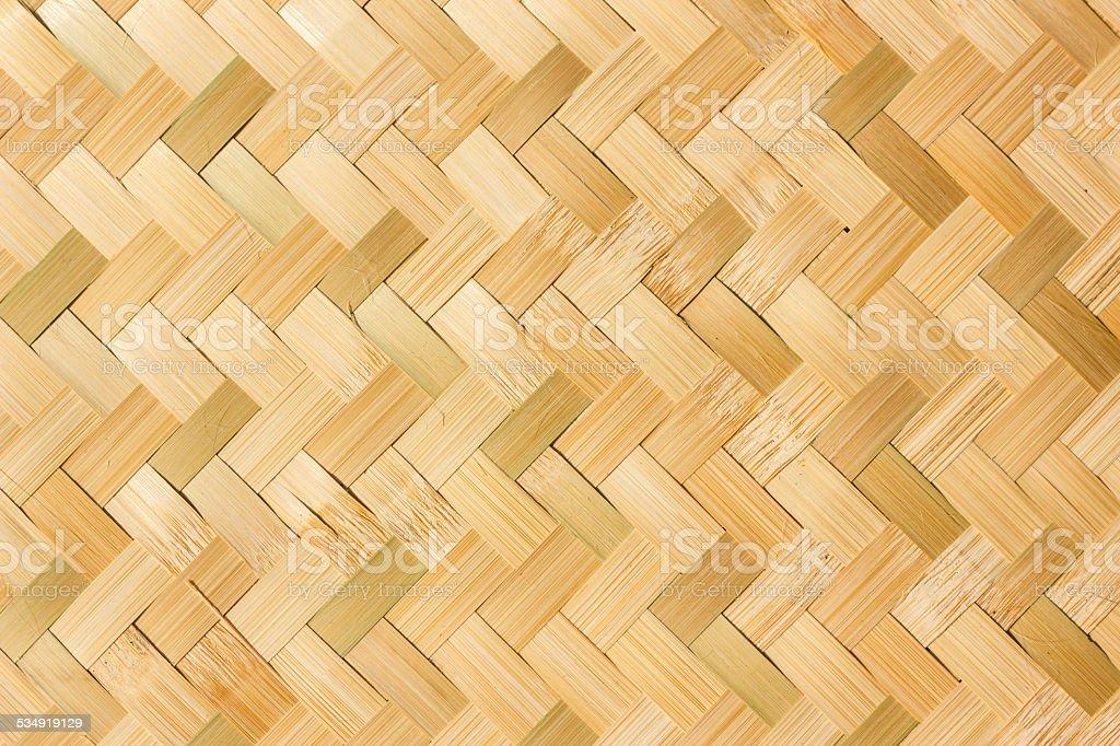 bamboo weave pattern stock photo