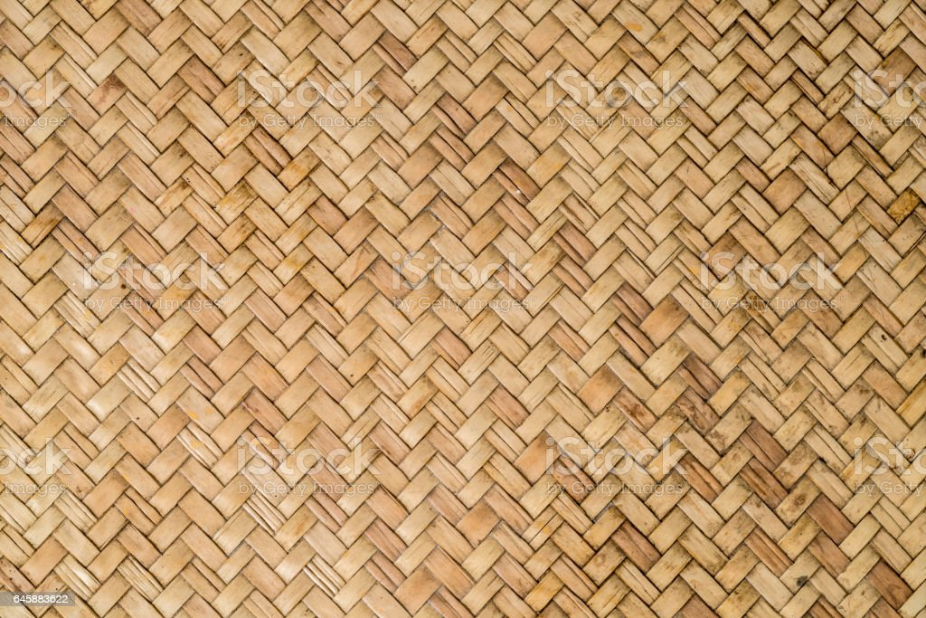 Bamboo weave stock photo