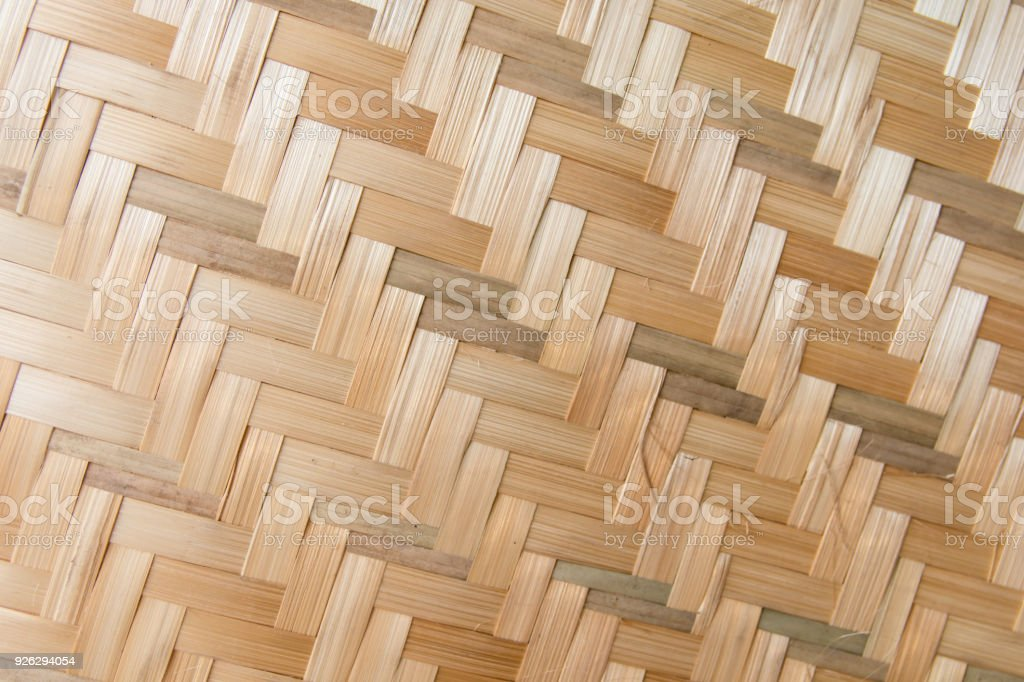 Bamboo weave texture background. bamboo weave pattern for handmade