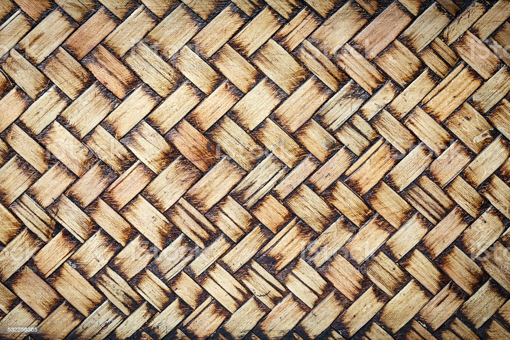 Bamboo weave texture background stock photo