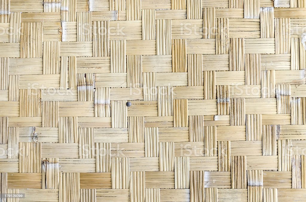 bamboo weave texture royalty-free stock photo