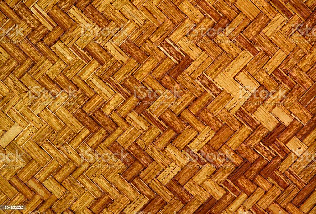 Bamboo Weave Texture. stock photo