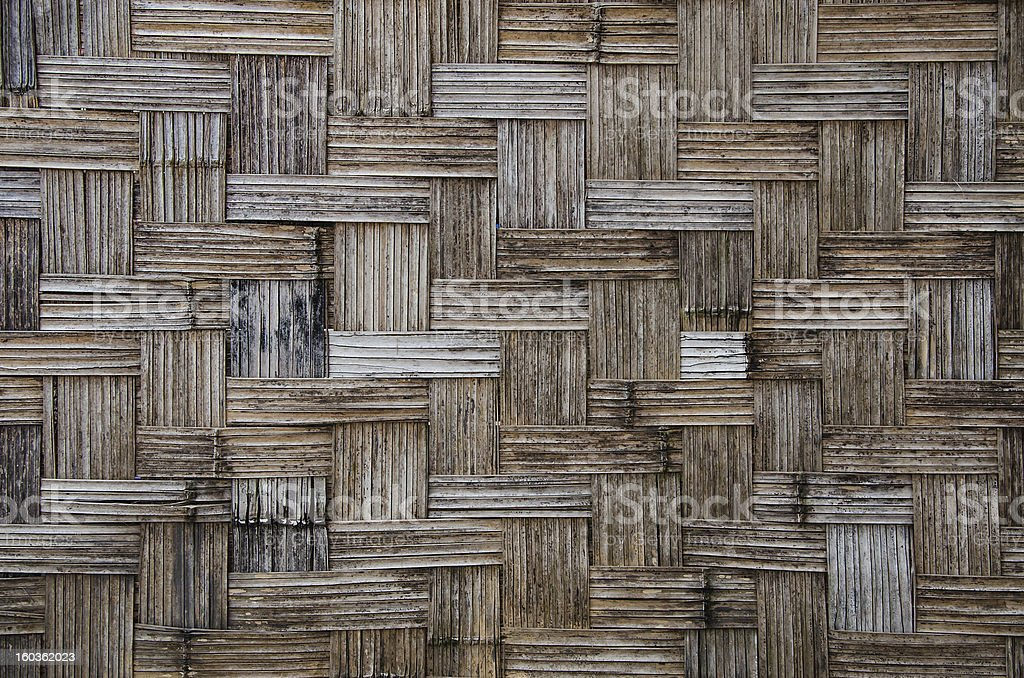 Bamboo weave wall royalty-free stock photo
