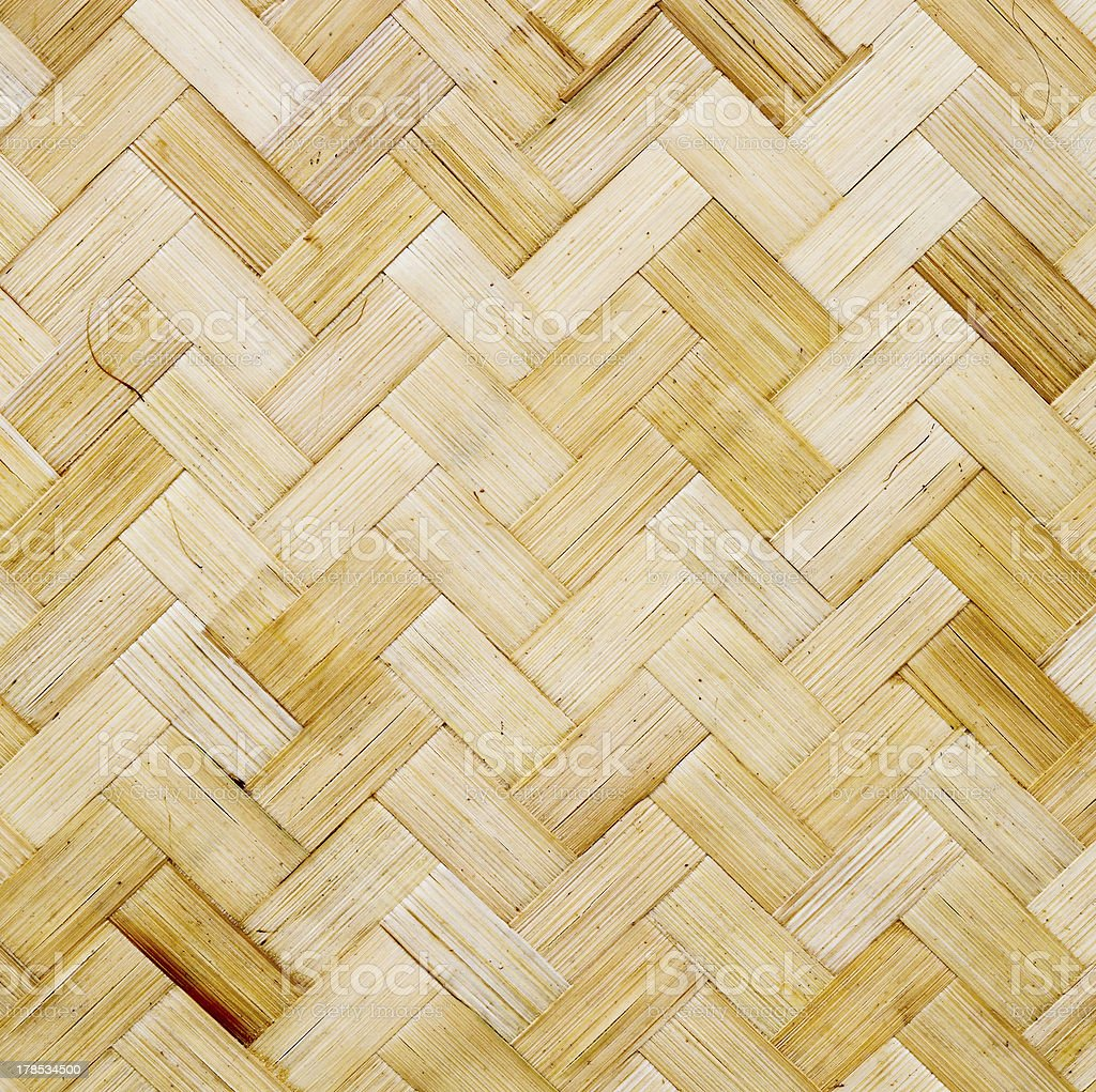 Bamboo wood texture ,Thai handwork royalty-free stock photo