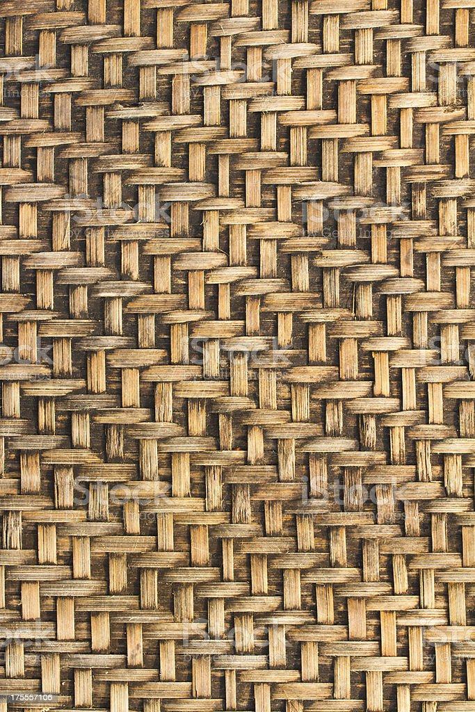 Bamboo woven background royalty-free stock photo
