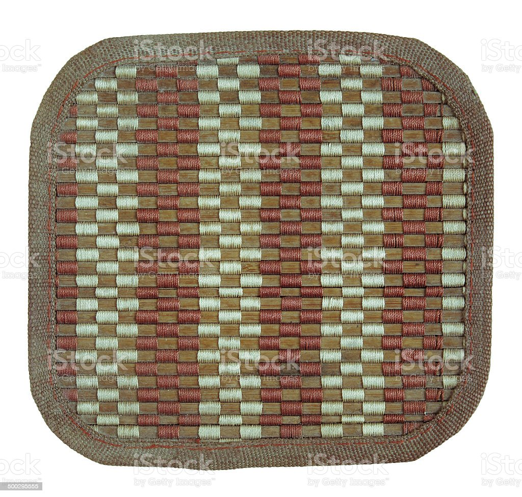 bamboo woven mat isolated on white