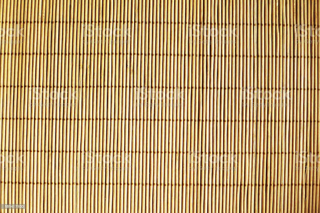 Bamboo yellow mat. stock photo