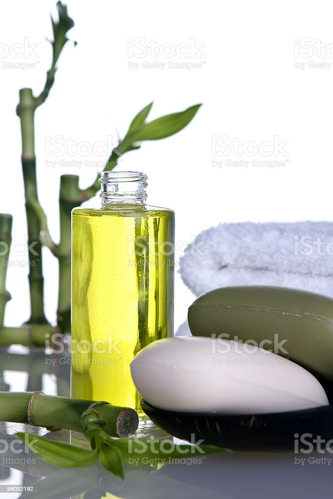 Bamboo_soap_cosmetic royalty-free 스톡 사진