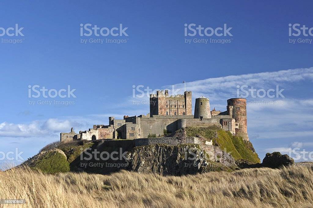 Bamburgh Castle from the North royalty-free stock photo