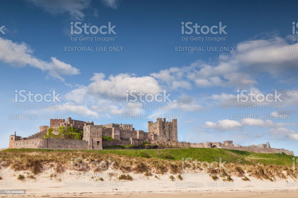 Bamburgh Castle Northumberland England stock photo