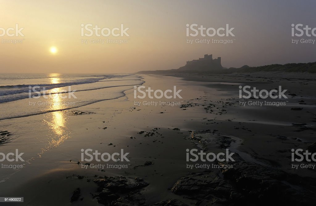 Bamburgh Castle stock photo