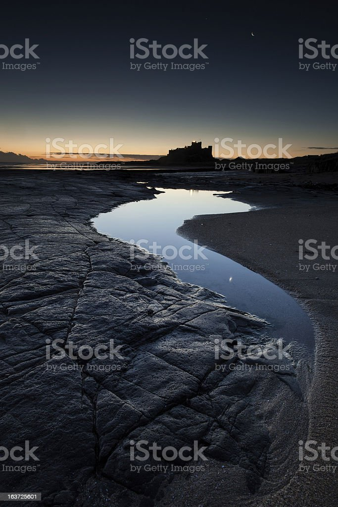 Bamburgh Dawn royalty-free stock photo