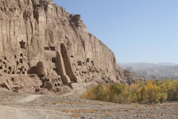Bamiyan Buddhas stock photo
