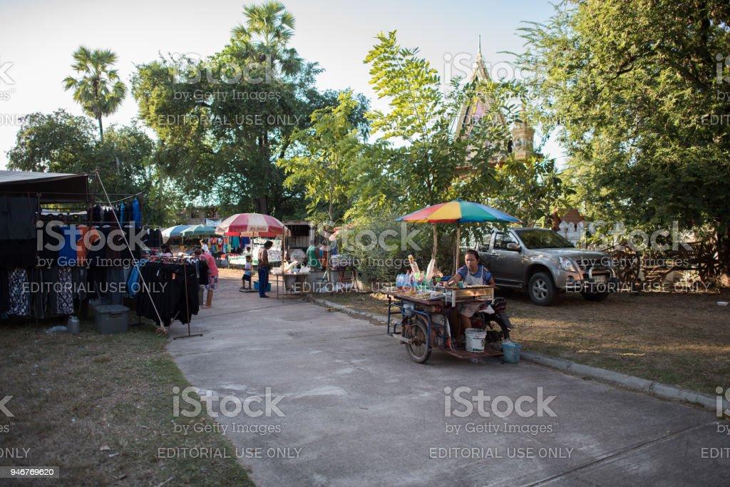 Ban chiang, udon thani, Thailand market stock photo