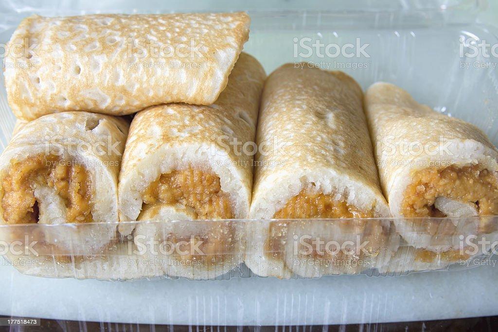 Ban Chien Kueh Peanut Pancakes royalty-free stock photo