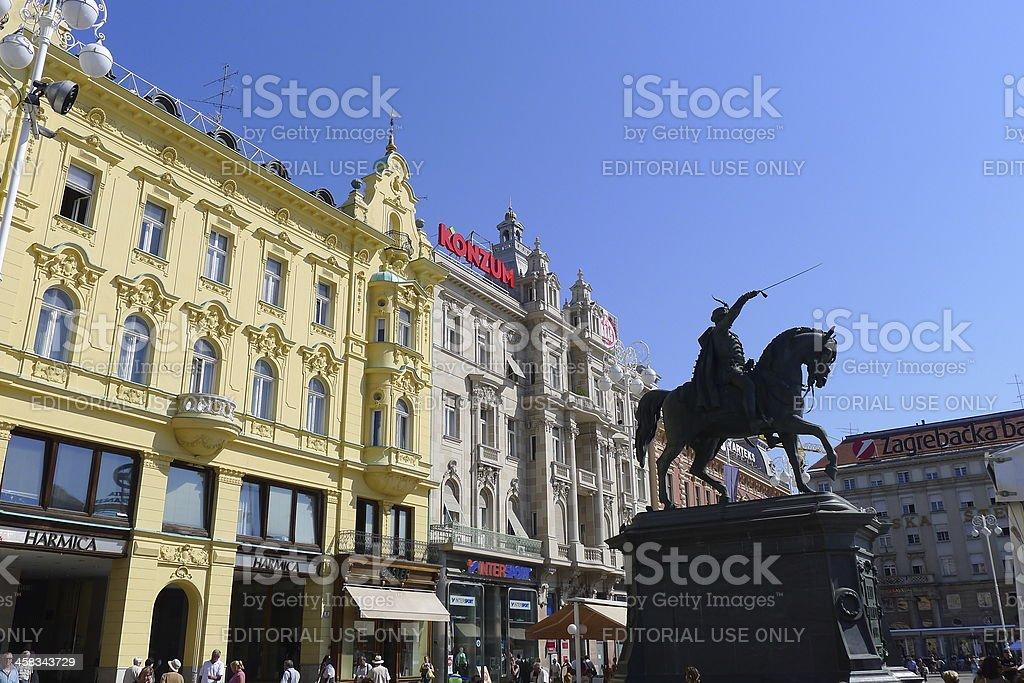 Ban Josip Jelecic square royalty-free stock photo