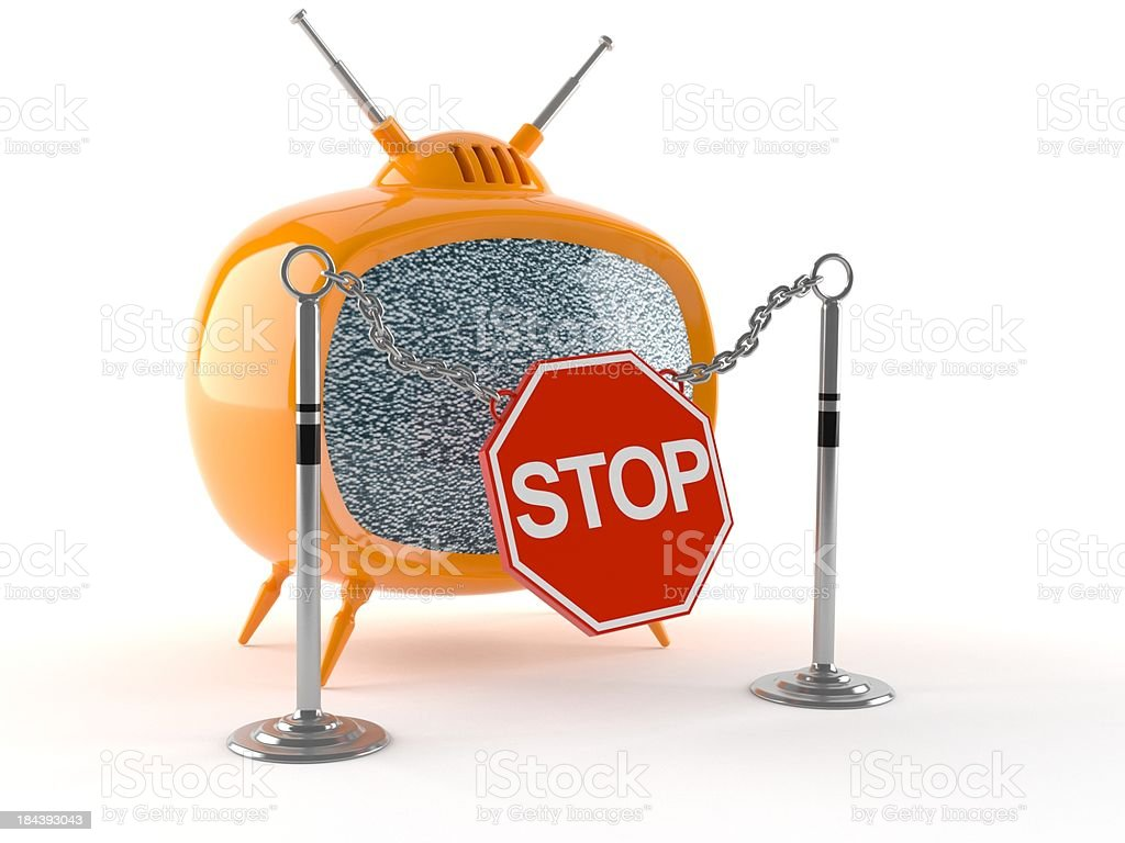 TV Ban royalty-free stock photo