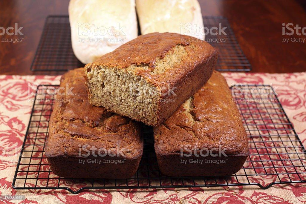 Banana and White Bread royalty-free stock photo