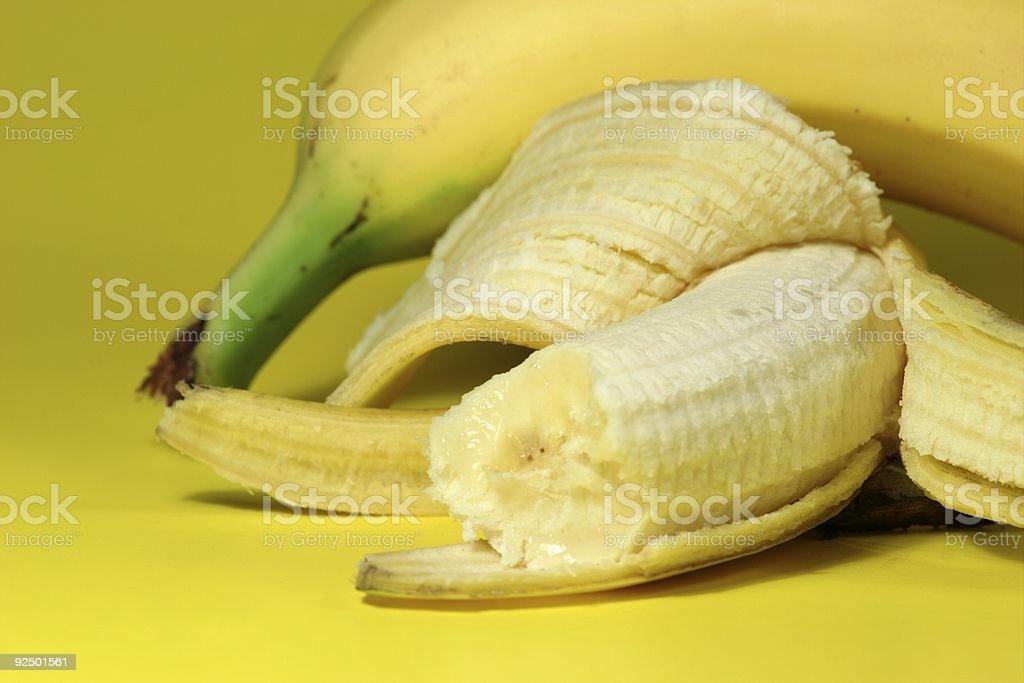 Banana Bite royalty-free stock photo