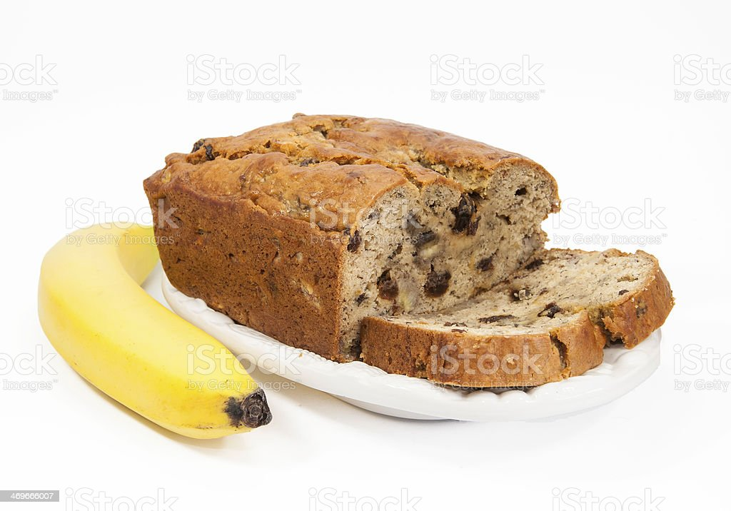 Banana Bread and Banana stock photo