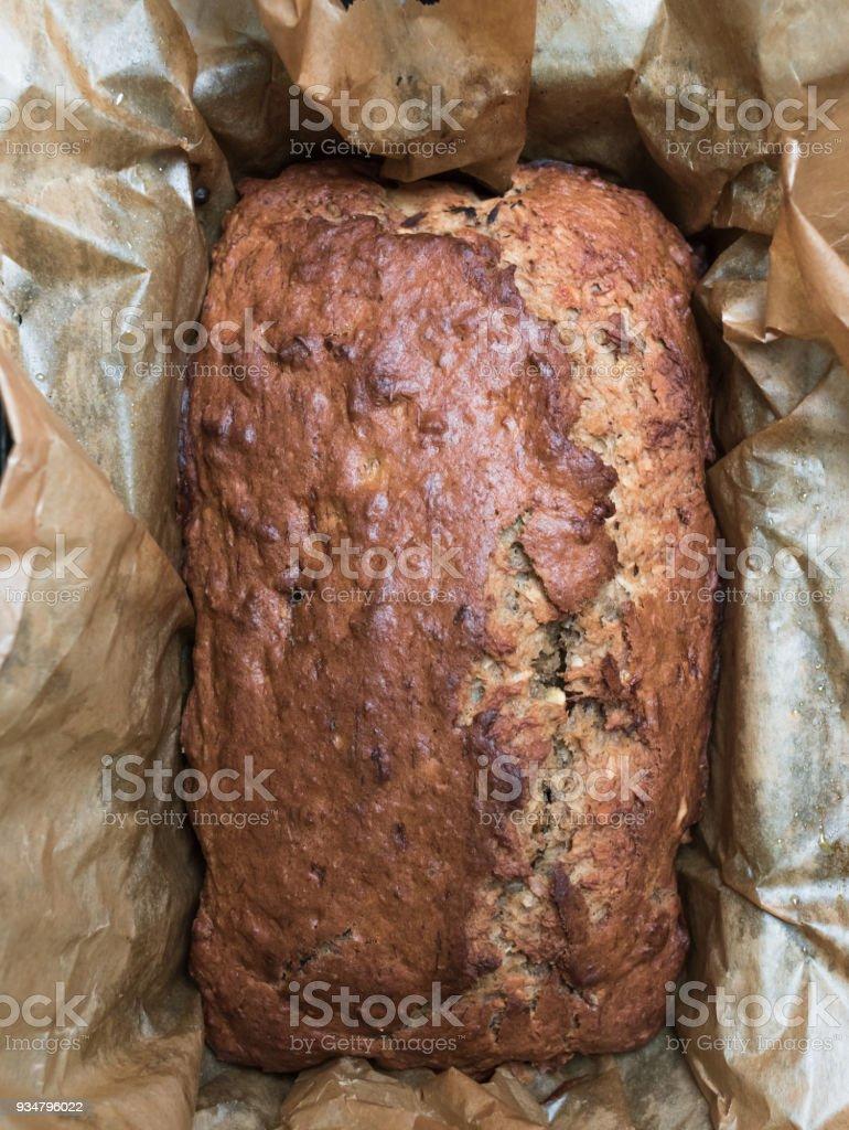 바나나 빵 갓 구운된 홈 - 로열티 프리 0명 스톡 사진