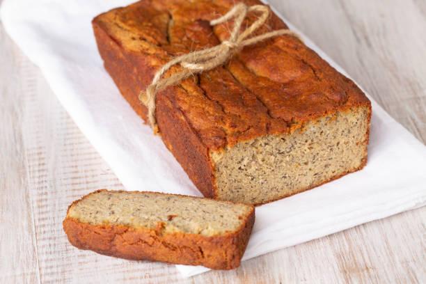 Banana Bread Loaf For Breakfast stock photo
