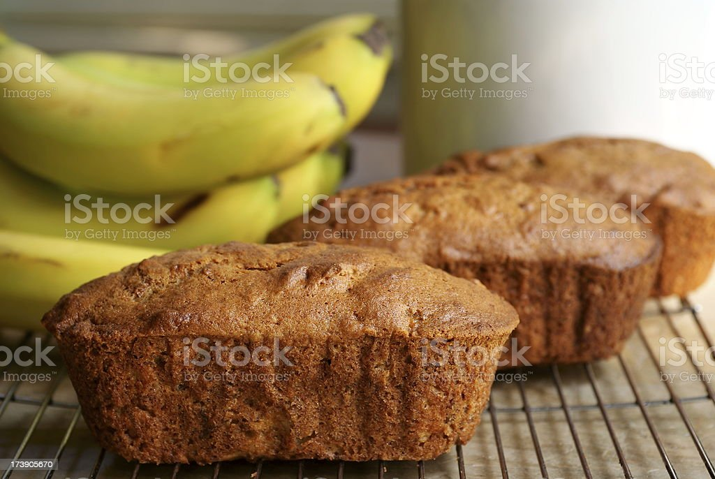 Banana Bread Loaves stock photo