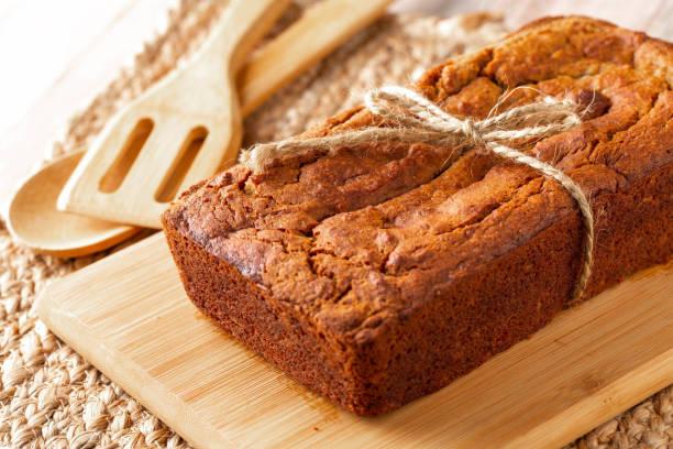 Banana Bread Nutritious Breakfast stock photo