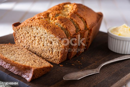 Homemade Loaf of Banana Bread