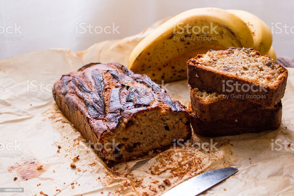 Banana bread stock photo