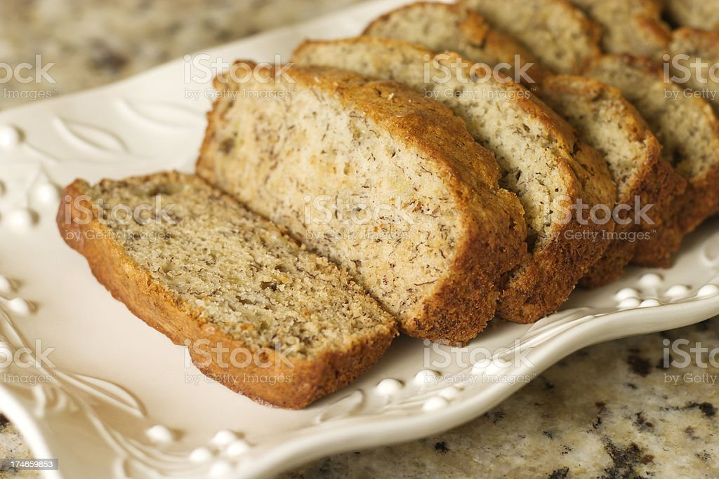 Banana Bread Slice royalty-free stock photo