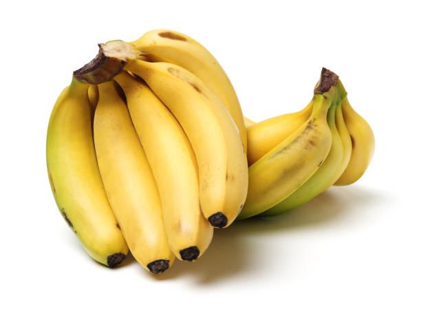 バナナ束に分離ホワイト バック グラウンド ストックフォト