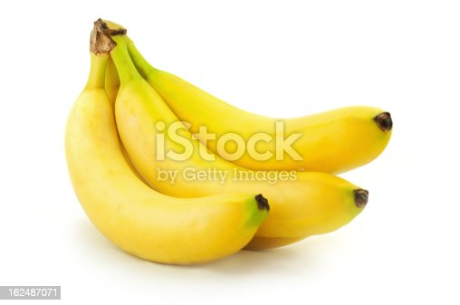banana bunch isolated on white