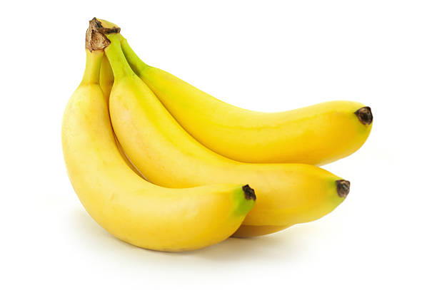 banana bunch banana bunch isolated on white banana stock pictures, royalty-free photos & images