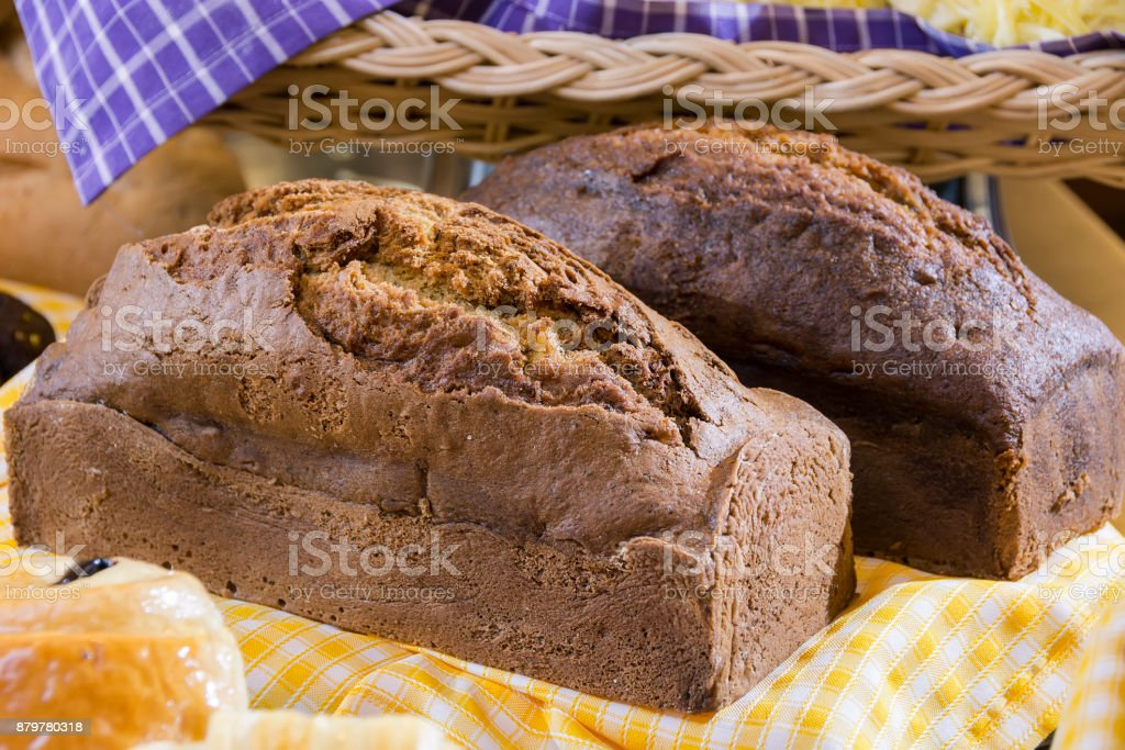 Banana Cake stock photo