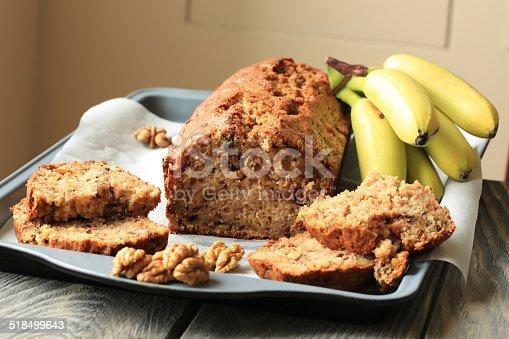 banana bakery dessert - banana cake with walnuts