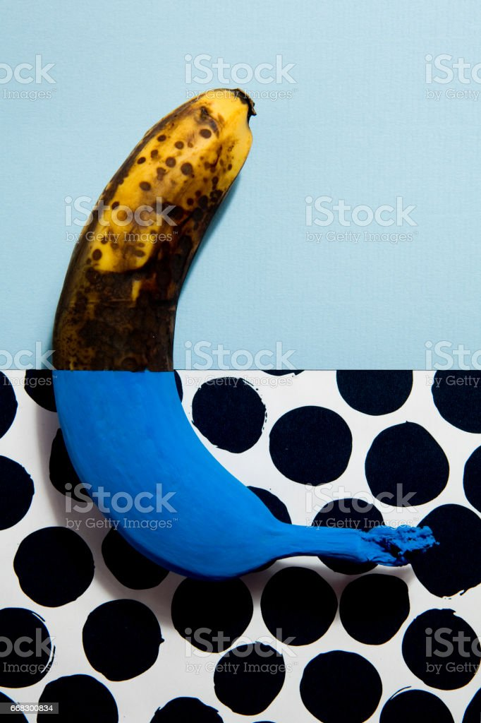 Banana chameleon stock photo