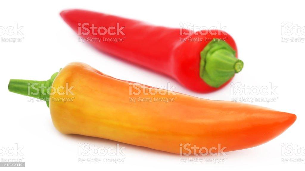 Banana chilies stock photo