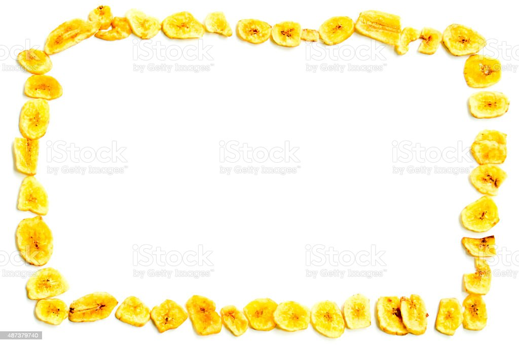 Banana Chip Frame stock photo