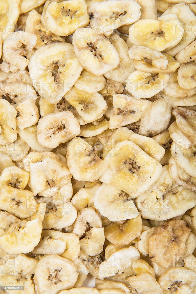 Banana Chips Background stock photo