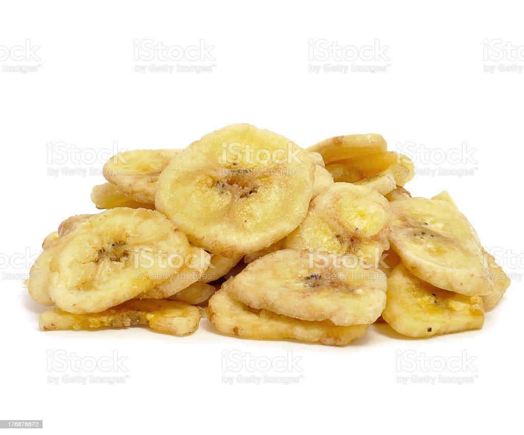 banana chips stock photo