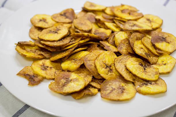 바나나 칩 - 플렌틴 바나나 뉴스 사진 이미지
