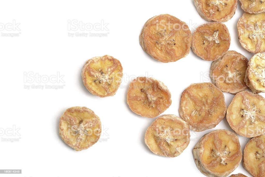 Banana Chips scattered stock photo