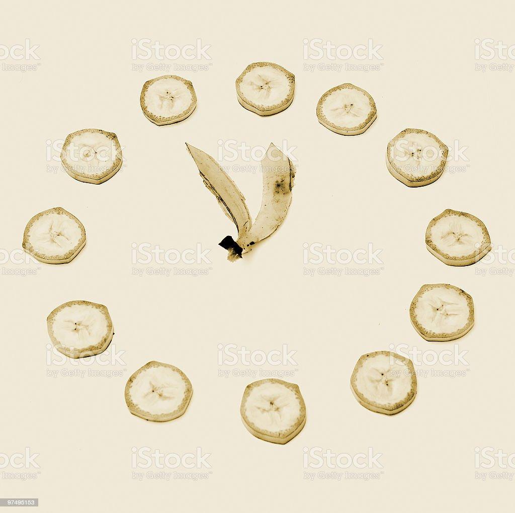 banana clock royalty-free stock photo