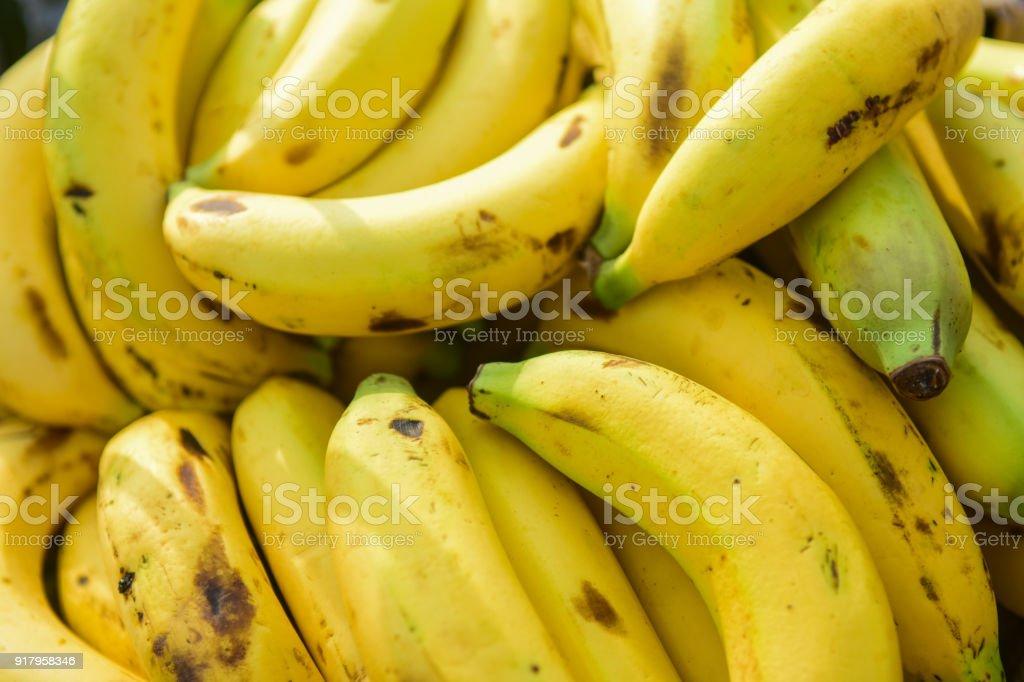 Banana, Close up view stock photo