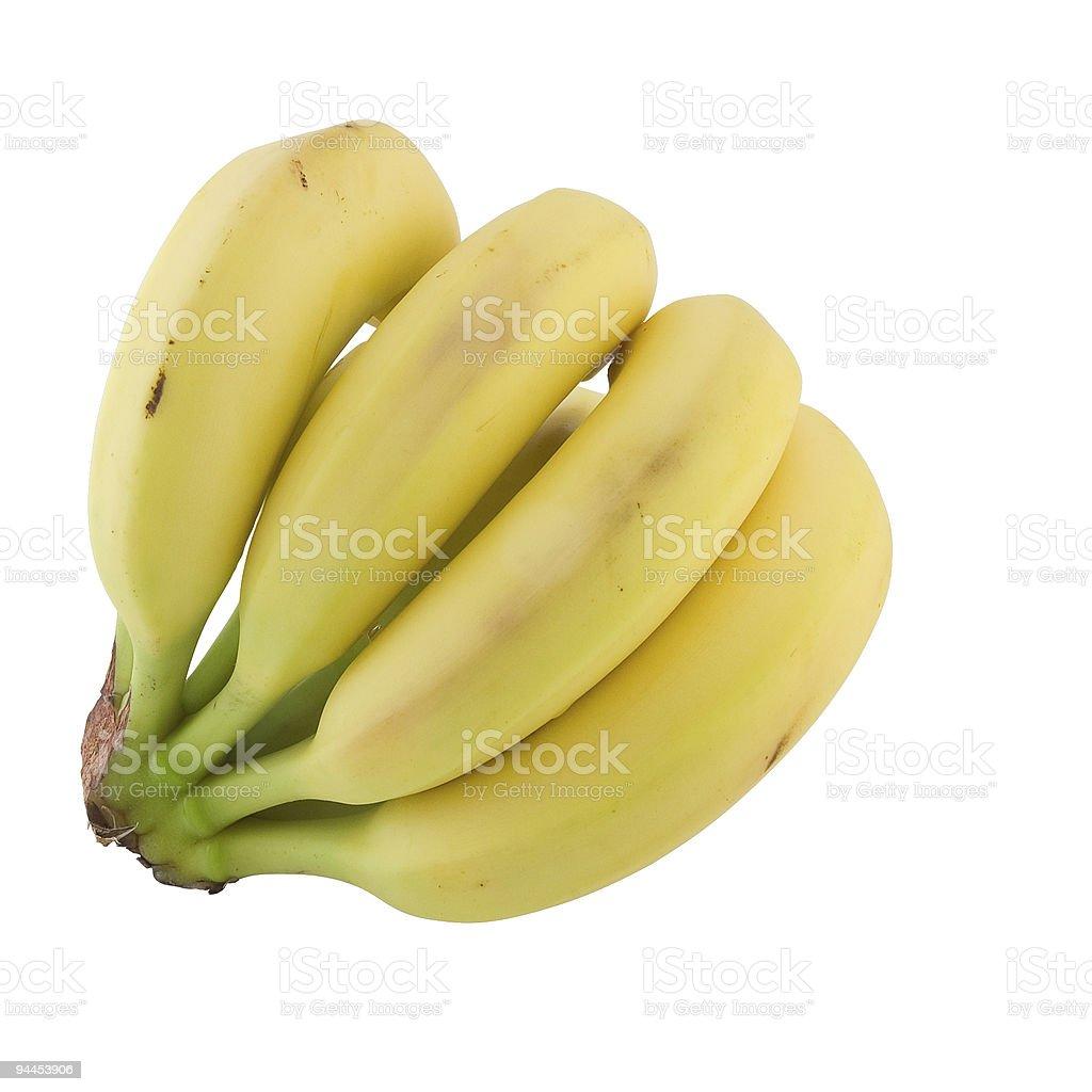 Banana cluster. royalty-free stock photo
