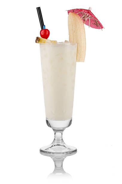 banana-cocktail - bananenlikör stock-fotos und bilder