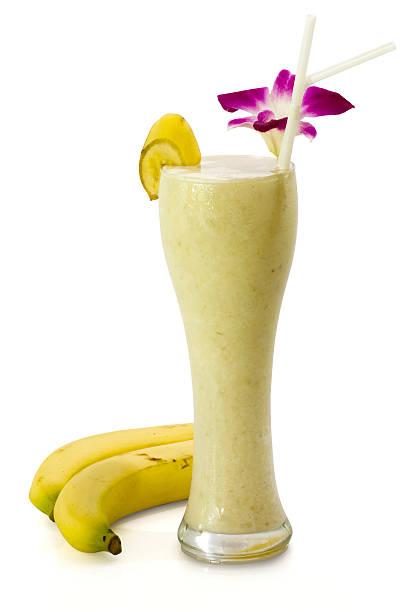 Banana drink (Clipping Path) stock photo