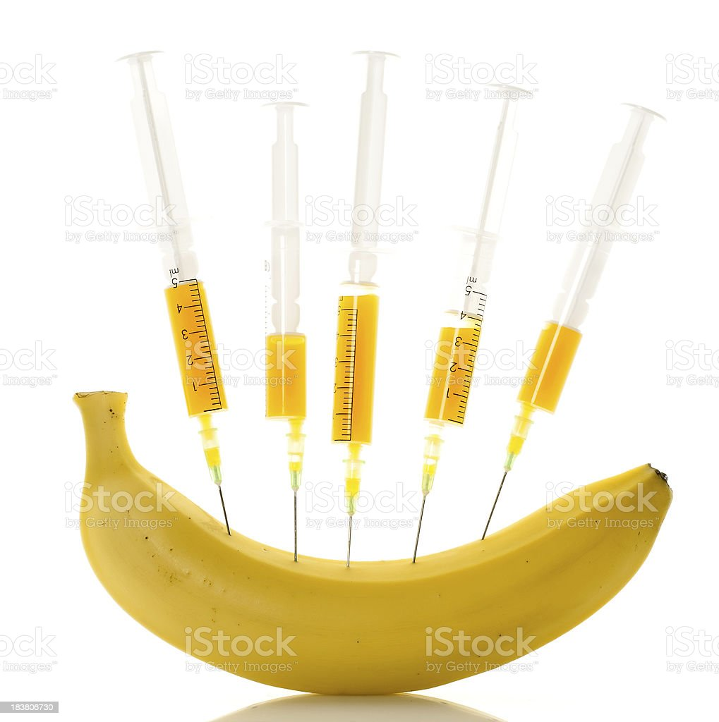banana experiment royalty-free stock photo
