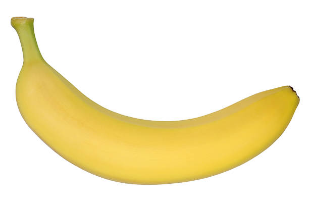 Banana fruit top view isolated on white stock photo